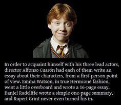 Spot on, Ron Weasley.