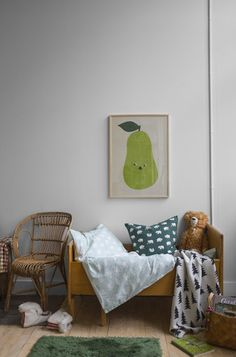 Fine Little Day Piggelin Pear Kids Wall Print