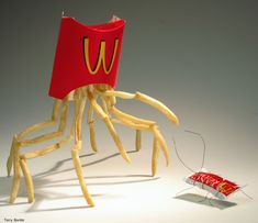 """McDonalds.""    Sculpted and photographed by Terry Border. http://bentobjects.blogspot.com/"