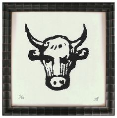 """""""Outlined Bull Hatching"""" Art Print - artwork - by Kathy Kuo Home"""