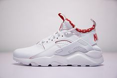 NIKE AIR HUARACHE ULTRA ID PURE WHITE RED 875841116 Nike Air Huarache Ultra, Nike Huarache, Pure White, Huaraches, Sneakers Nike, Pure Products, Red, Shoes, Fashion