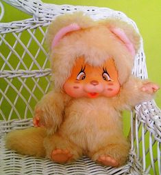 """Adorable Nyamy kitten Softy in Apricot color with scarf - 18cm - 7,1"""" - Rare"""