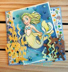 Mermaid Dakota Digital Stamp  #SomeOddGirl #DigiStamp #CopicMarkers #Cardmaking #AdultColoring #Crafting #Papercrafts