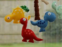 Dinosaur Mobile Baby Mobile Baby Gift Made To by FlossyTots