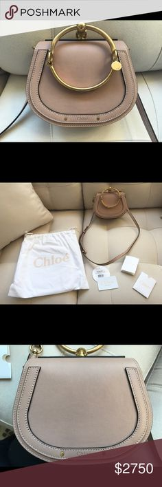 "Chloe Nile Small Biscotti Beige Handbag New w/ tag, dust bag, and authenticity card. From Saks Fifth Avenue. Consistently called the ""IT"" bag this year! Sold out everywhere! A statement piece and extremely versatile! Never worn and in amazing condition! Chloe Bags Crossbody Bags"