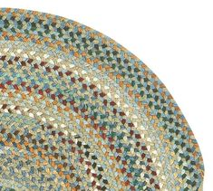 Seward Round Braided Rug - Multi #potterybarn