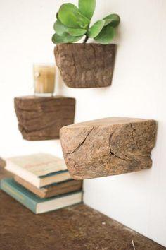 Reclaimed Wooden Antique Axel Floating Shelf - Upper Earth