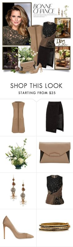 """I Love Chocolate"" by thewondersoffashion ❤ liked on Polyvore featuring WearAll, Thakoon, Givenchy, Lulu Frost, Rochas, Giorgio Armani and Eddie Borgo"