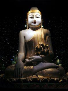 A striking Burmese Buddha statue is in the Art Gallery at Fo Guang Shan Monastery near Kaohsiung, Taiwan. Sun Moon Lake, Taipei, Hong Kong, Art Gallery, Statue, Burmese, Photography, Buddha, Travelling