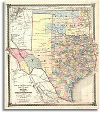 Fabulous 1872 Texas & Indian Territory County Map of Texas by Warner & Beers. I have never seen it on any other major Texas County Map. Old Maps, Antique Maps, Vintage Maps, Texas County Map, Texas Maps, Texas And Oklahoma, Denton Texas, Texas Cowboys, Texas Pride