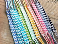 Rainbow Double Chevron Friendship Bracelets by BrandiisBoutique, $10.75