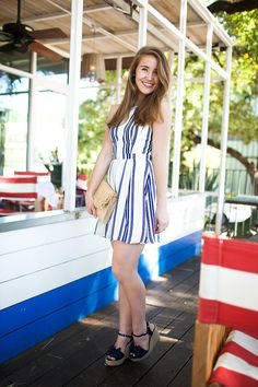 Striped Sailor Dress By Lonestar Southern