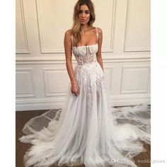 Straight cut neckline with spaghetti straps a-line wedding dress,Pallas couture wedding dress,wedding gowns,wedding dress inspiration,wedding dresses Stunning Wedding Dresses, Perfect Wedding Dress, Unique Dresses, Dream Wedding Dresses, Designer Wedding Dresses, Pretty Dresses, Bridal Dresses, Beautiful Dresses, Unique Wedding Dress