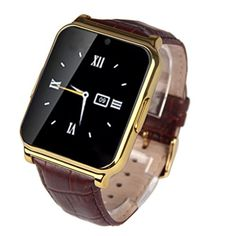 Creazy W90 Bluetooth Smart Watch Camera Support SIM Card ,Waterproof Smart Watch Phone Mate For Android IOS iPhone HTC Samsung Sony (Gold) * Want additional info? Click on the image.