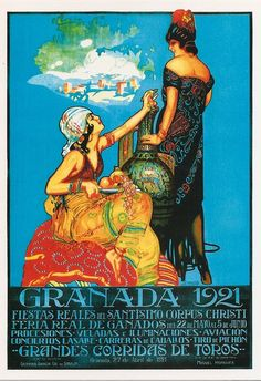Granada travel poster, 1921