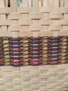 Close up of Japanese Diamond Weave inspired by Flo Hoppe & made by Mary E Moffatt Hailey