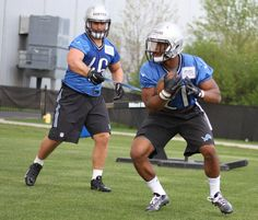 Michael Burton and Ameer Abdullah at Lions rookie camp 318506979