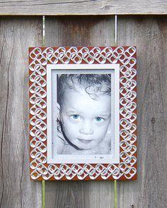 soda pop tabs crafts | Pop Tab Frame