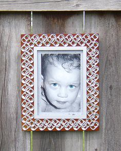 soda pop tabs crafts | Pop Tab Frame