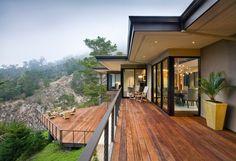 Terrassen Gestaltung Haus schöne Aussicht Holzarten