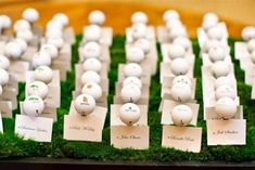 These Golf Ball Escort Cards are perfect for venues on a golf course!  This would be adorable here at the Cooper Creek Event Center!