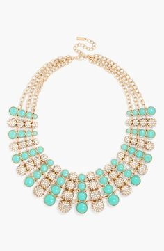 Mint and pave statement necklace. Perfection.
