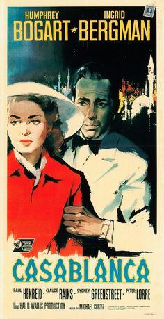 """Poster Italiano de """"Casablanca"""", 1942"""
