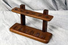 ☠ | Vintage Walnut Pipe Rack