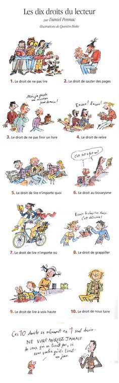 Pennac a tout compris… - La Soupe de l'Espace Quentin Blake, Teaching French, Book Writer, Book Authors, Books To Read, My Books, French Classroom, Little Library, Livros