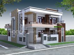 5 Bedroom Contemporary House Views House Design Duplex inside sizing 1500 X 1125 Modern 5 Bedroom House Designs - A bedroom needs to be the coziest corner from the […] 2 Storey House Design, Duplex House Design, House Front Design, Modern House Design, Duplex House Plans, Flat Roof House, Facade House, Style At Home, Bungalow Haus Design