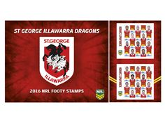 Collect the 2016 St George-Illawarra Dragons Stamp Sheet featuring your favourite players: http://auspo.st/1W02WuH  #Redv   #NRL   #Philatelic