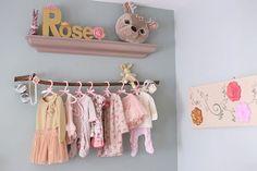 La chambre bébé de Rose - cute, baby room, chambre bébé, chambre fille, deco chambre bebe, vintage, rose, bleu, gris, or, doré