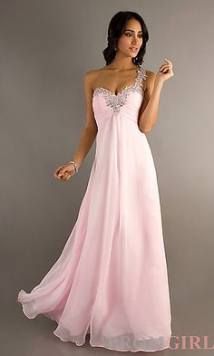 Long One Shoulder Formal Gown by Blush 9373 at PromGirl.com