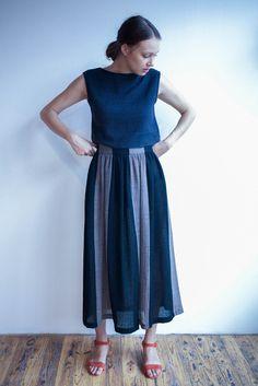 Correll Correll Long Striped Skirt
