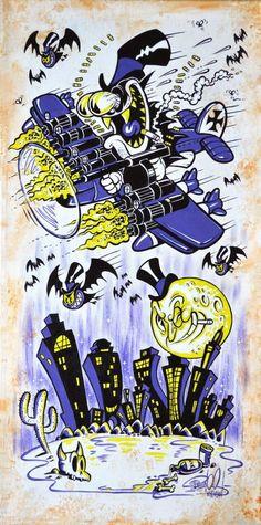 Top Bat by Shawn Dickinson Vintage Cartoon, Cartoon Art, 1930s Cartoons, Tattoo Flash Art, Desenho Tattoo, Lowbrow Art, Game Design, Art Graphique, Illustrations