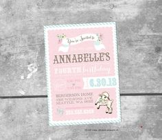 Vintage Little Lamb Custom Invitation  PRINTABLE  by ItsyBelle, $15.00