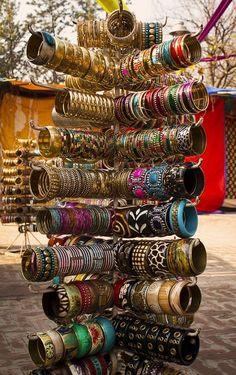 Bangle's Shop in Delhi Haat, Delhi, India