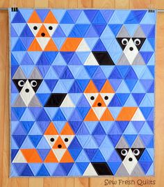 7 Equilateral Triangle Quilts to Inspire! {plus a pillow}