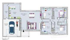 Plan habillé Rdc - maison - Un vaste plain-pied original