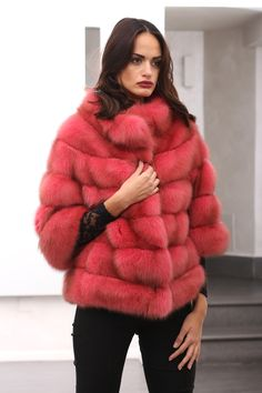 True #red #passion #Barguzinsky Russian #Sable #fur with silver points. More info here: http://www.jewelsandfurs.com/en/shop/furs/EF002668/