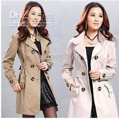 Wholesale Korean trench coat Ladies Winter Long Coat Overcoat New Fashion Original Coats women trench coats, Free shipping, $50.25/Piece   D...