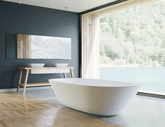 The acanthus bathtub is perfect for the modern home bath - the quintessential luxury experience that your home deserves. Acanthus, Bathroom Inspiration, Be Perfect, Modern Design, House Design, Contemporary, Luxury, Interior, Basins