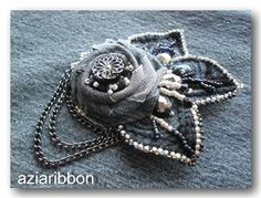 Denim Flowers, Fabric Flowers, Brooch, My Style, Crafts, Jeans, Jewelry, Flowers, Fabrics