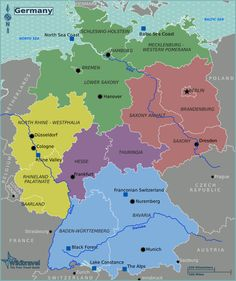 Germany is a Federal Republic consisting of 16 Bundesländer (states). 3 are city-states: Berlin, Bremen, and Hamburg.