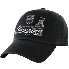 hot sale online 106c1 ae3bc  47 Brand Los Angeles Kings 2012 NHL Stanley Cup Final Champions Slouch  Adjustable Hat - Black