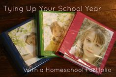 Great idea for keeping track of what was accomplished! Tying Up Your School Year with a Homeschool Portfolio