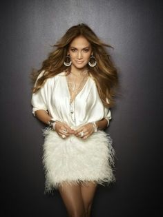 JLo is Jennifer Lopez! Jennifer Lee, Pictures Of Jennifer Lopez, Fur Skirt, Feather Skirt, Glamour, American Idol, My Idol, Beautiful People, Party Dresses