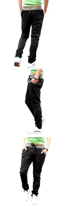 ef6907ed New Men's Casual Jogging Running Gym Sweatpants Slim Fit Sports Trousers  K83A_Black_31, Magiftbox men's fashion