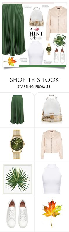 """""""Untitled #223"""" by d-meggy ❤ liked on Polyvore featuring Vanessa Bruno, MICHAEL Michael Kors, Henry London, Maje, Pottery Barn, WearAll and H&M"""