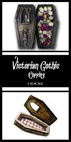 tutorial: miniature gothic coffins